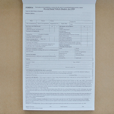 S30 - Form 6 - Contract for Sale (Second-hand Motorcycle)