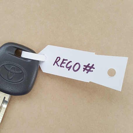S101 - Key Tags - Disposable (white)