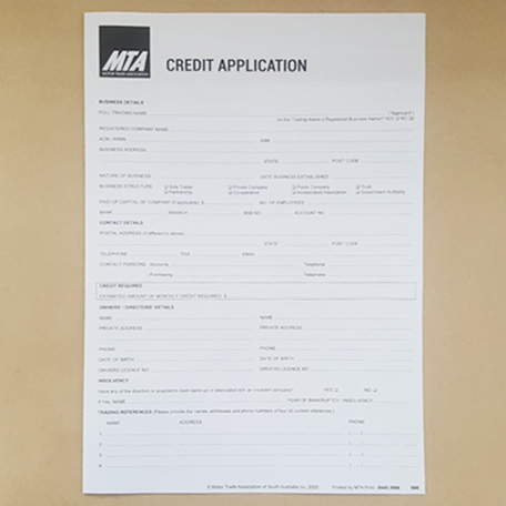 S66 - Credit Application