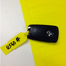 S100 - Key Tags - Disposable (yellow)